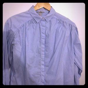 H&M button down long sleeve stripped shirt
